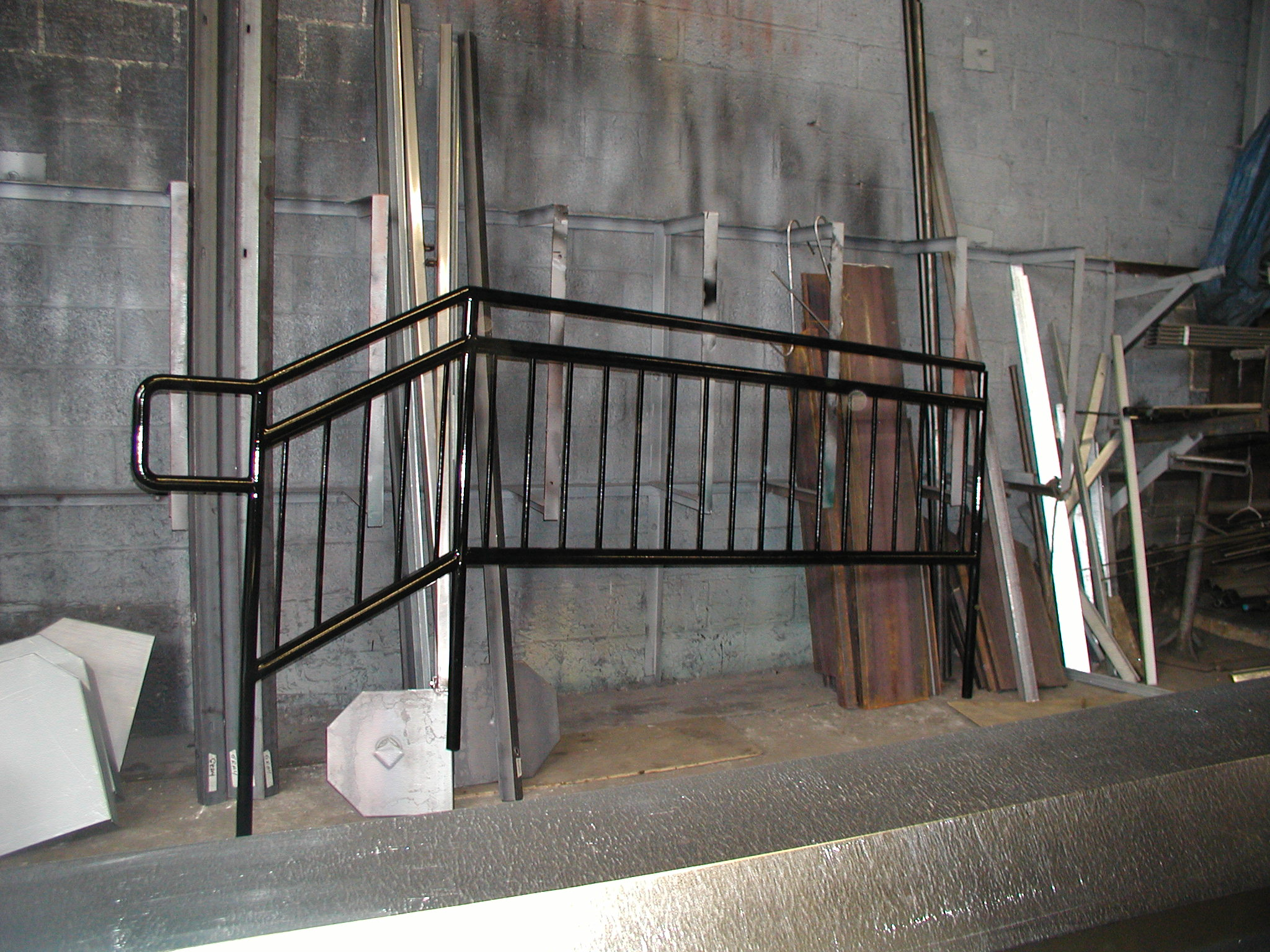Pipe Stair Rails With Welded Pickets. (Staten Island, NY)