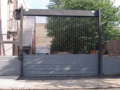See through Grille freestanding security gate high cycle parking lot type (Queens NY)
