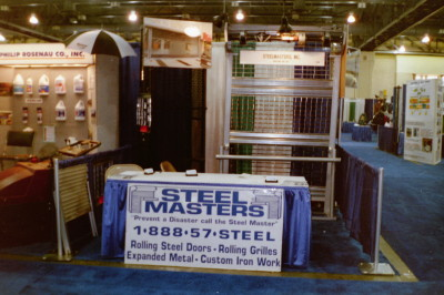 Steel Master display at Atlantic City convention. We deliver, crate, and ship or install anywhere in northeast. Wholesale or Retail. (Atlantic City New Jersey)