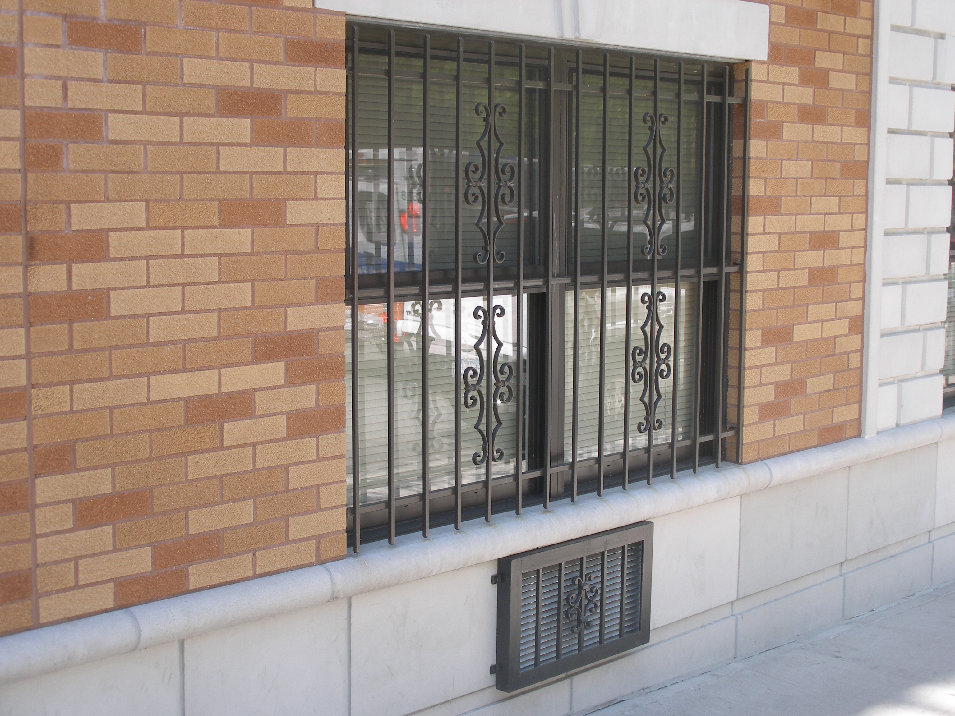 Find manufacturer steel window guards and security burglar for Window design metal